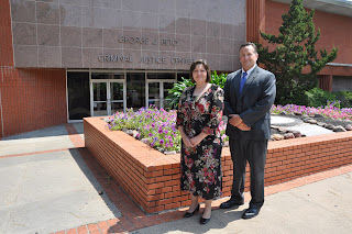 Debbie Erwin and Chris Cirrito, employees at the Texas Department of Criminal Justice, were awarded scholarships for the Master of Criminal Justice Leadership and Management program.