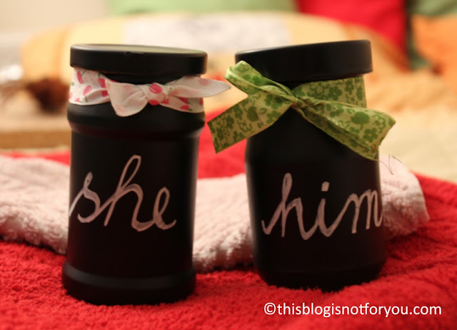 Chalkboard Painted Jars