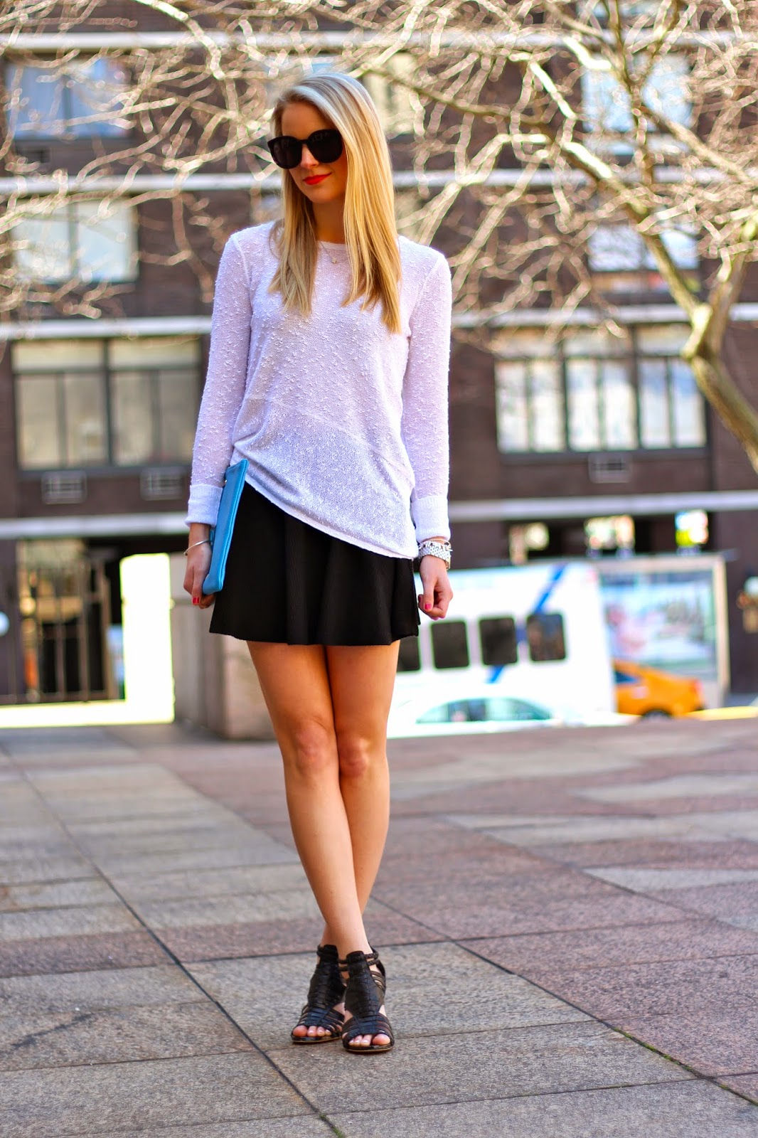 white summer sweater