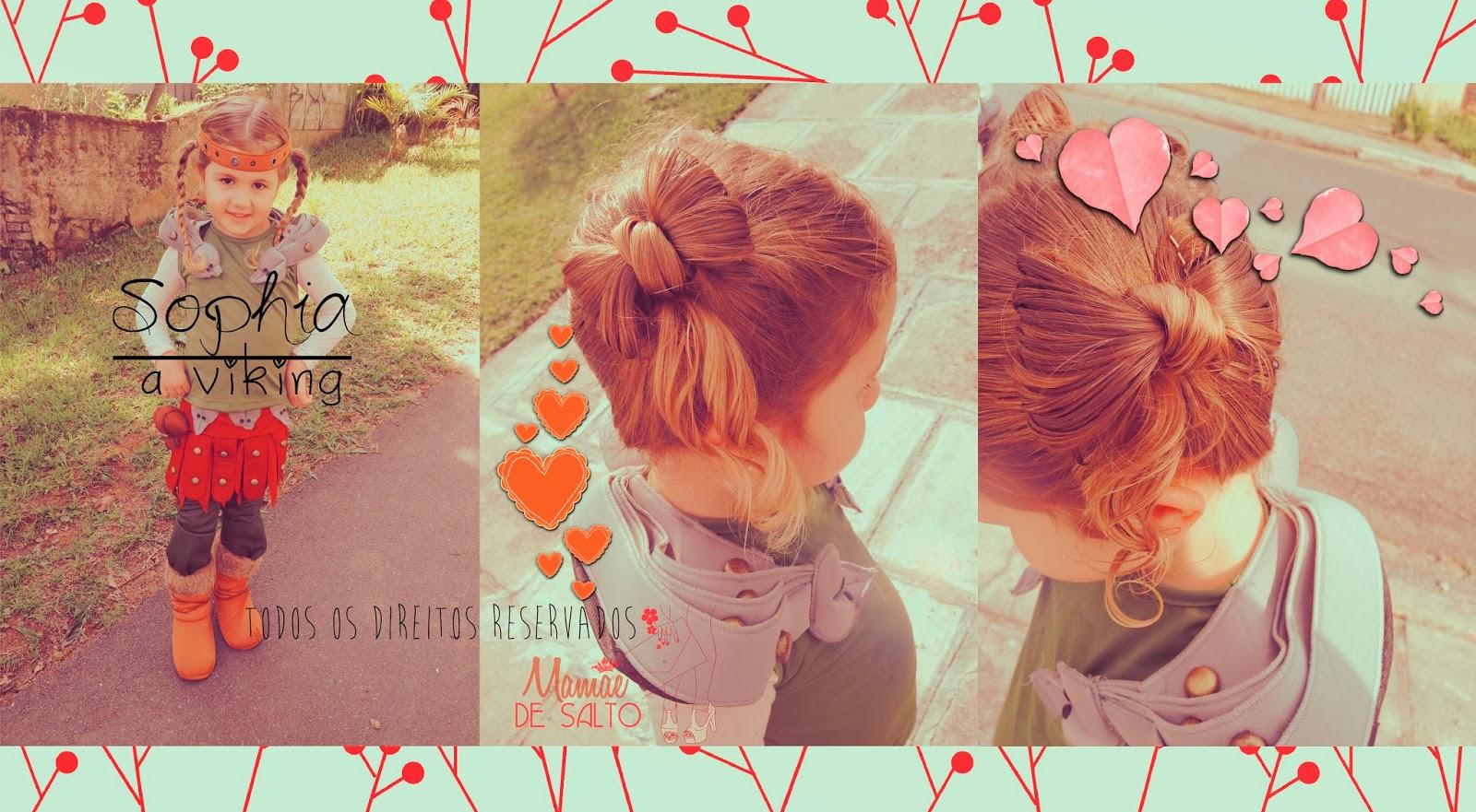 """fantasia infantil Astrid """"Como treinar seu dragão"""" blog Mamãe de Salto ==> todos os direitos reservados"""