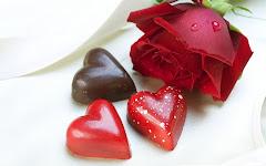 Fondos de Pantalla de Amor y Amistad: Bombones y Una Rosa