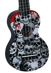 Mahalo Painted Skulls Ukulele