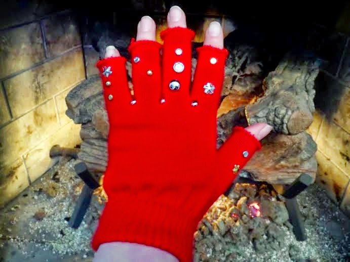 bedazzled gloves