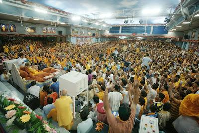 Guru Poornima scene with Shree Kripalu Ji Maharaj