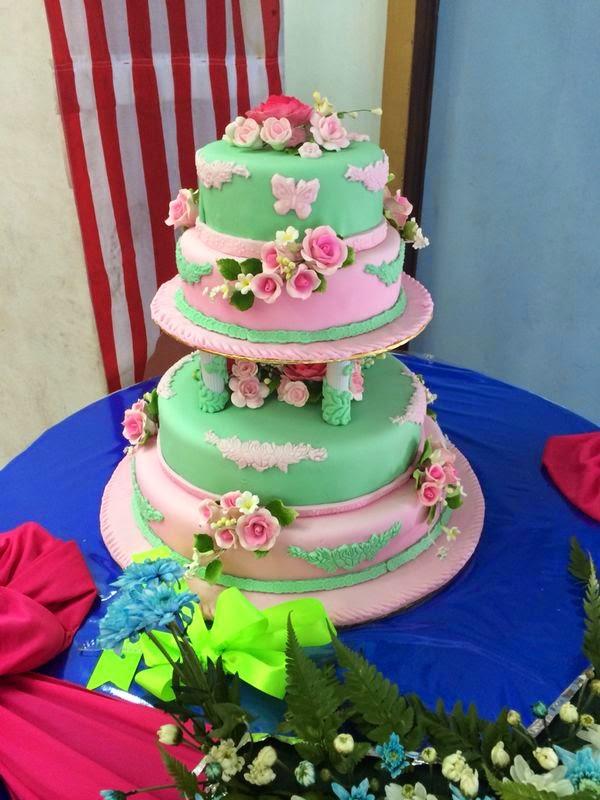 4tiers wedding cake