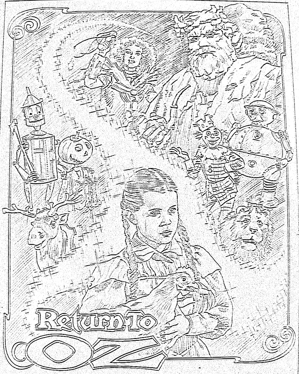 sunday - Wizard Of Oz Coloring Pages