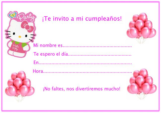 Invitaciones cumpleaños Hello Kitty : Locos por Hello Kitty