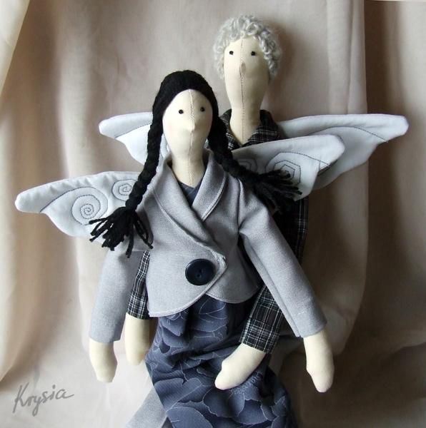 anioły tilda angels Krysia to uszyła