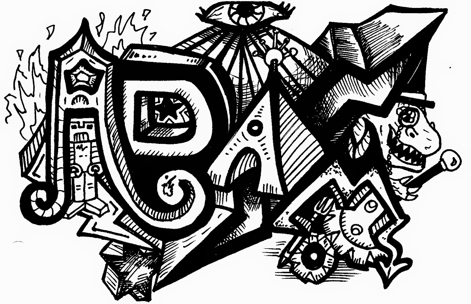 Learn a new thing graffiti letters best graffitianz - Grafiti alpabet ...