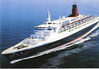 Queen Elizabeth 2 During Her Cruising Career to Become a Floating Resort in the Far East.