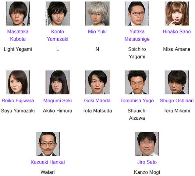 Pemain Death Note J-Drama 2015