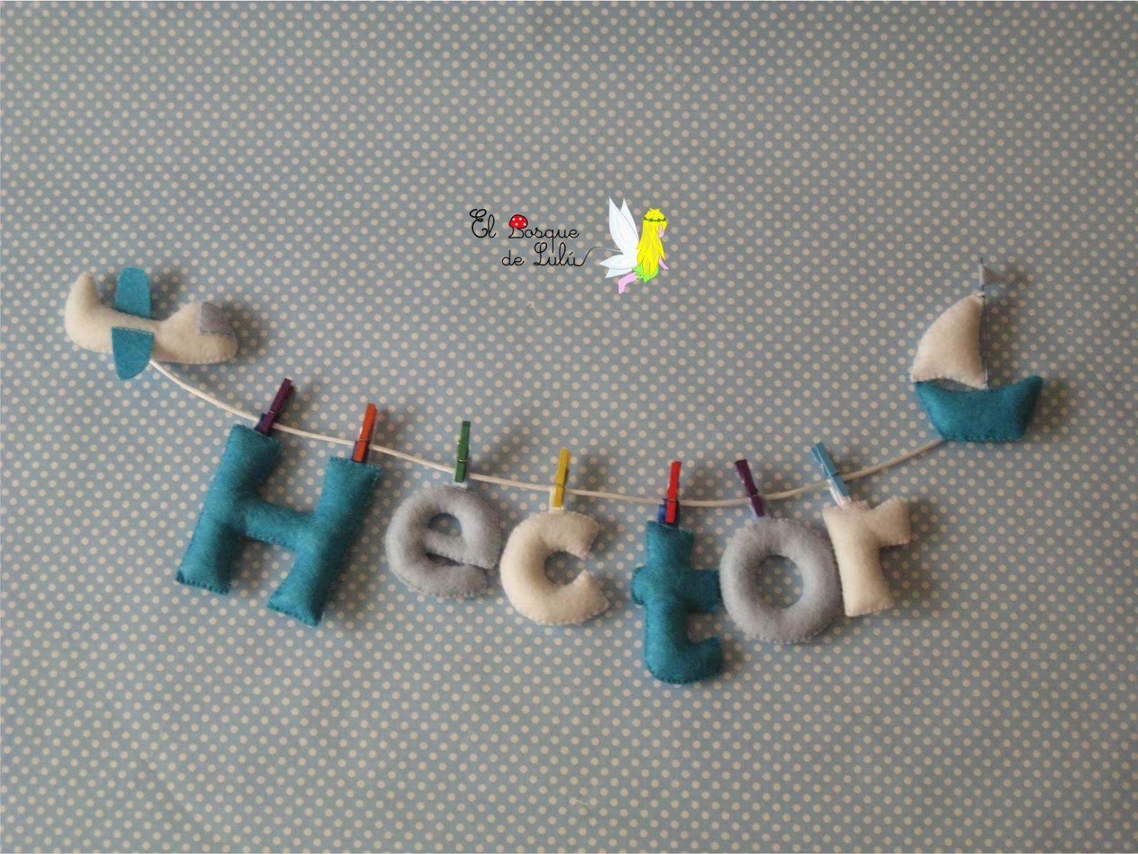 nombre-decorativo-name-banner-Hector-infantil-decoración-letrero-fieltro