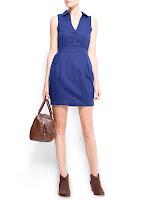 mango mavi renk elbise modeli