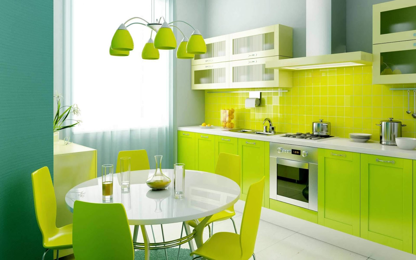 Desain Rumah Minimalis Modern: Green minimalist home interior ...