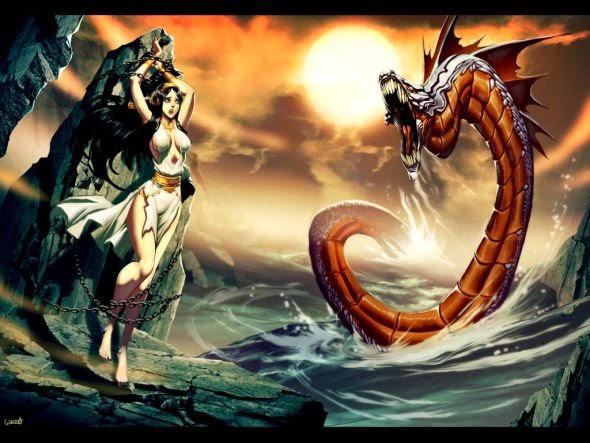 Gonzalo Ordóñez Arias genzoman deviantart ilustrações fantasia games monstros mitologias deuses Andrômeda