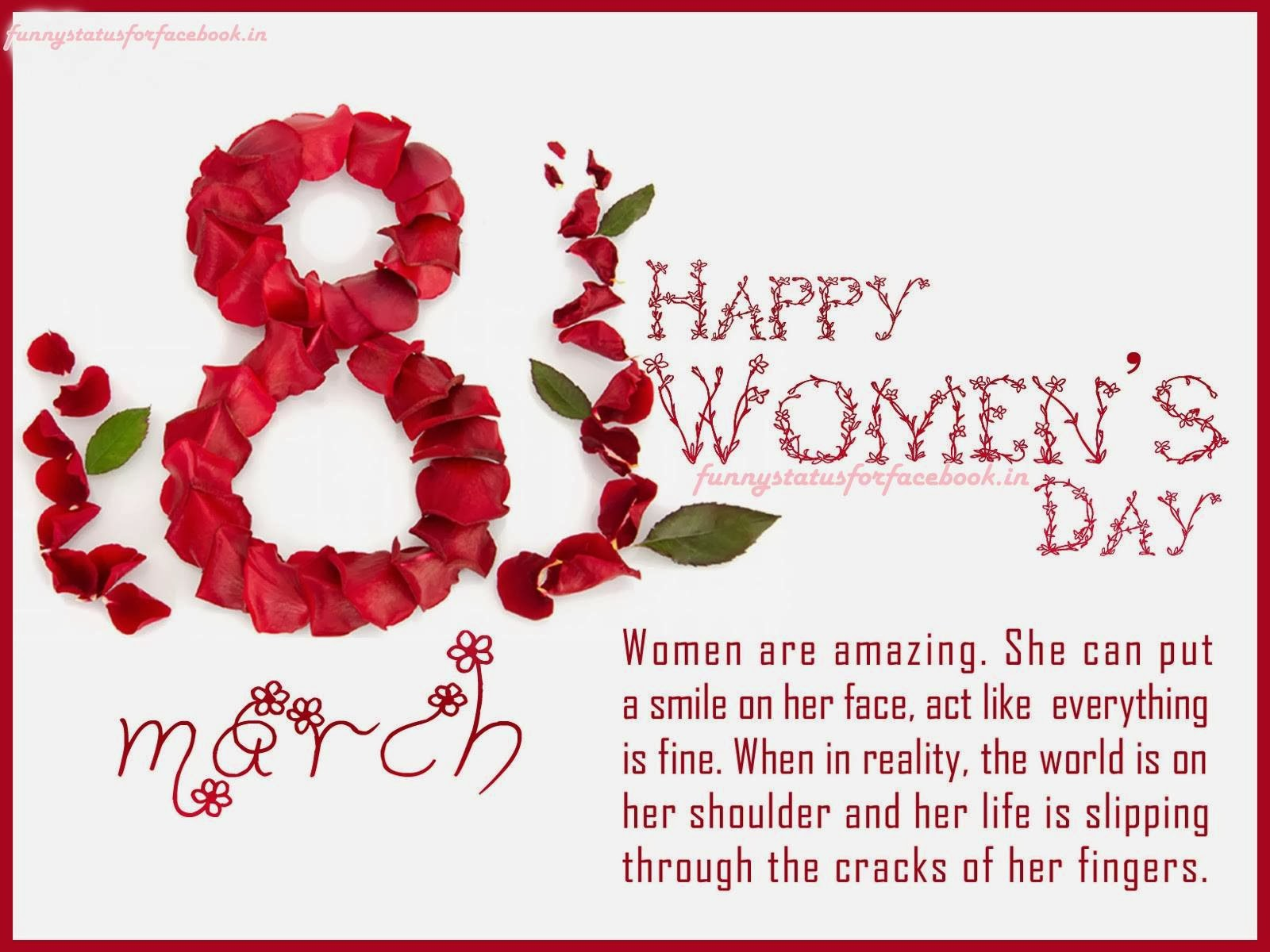 Happy International Women's Day Wishes and Greetings Message SMS Card Image