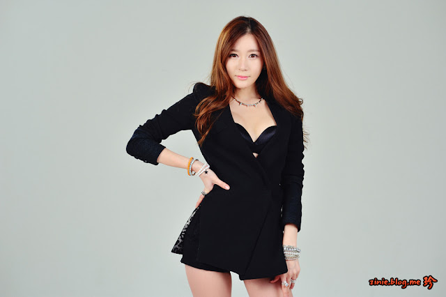 3 Han Ji Eun in Black -Very cute asian girl - girlcute4u.blogspot.com