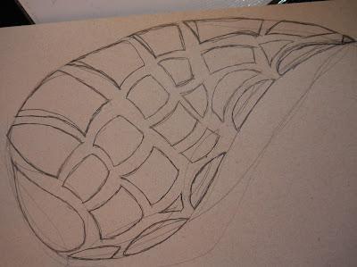 Bem,eu não consegui o molde para as asas,então eu mesma desenhei. :D