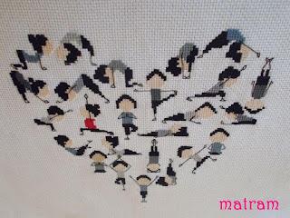 haft krzyzykowy serce