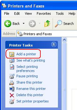 Add Sharing Printer