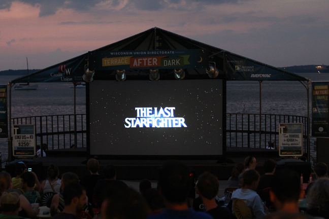I have never day 64 terrace after dark lakeside for Movies at the terrace
