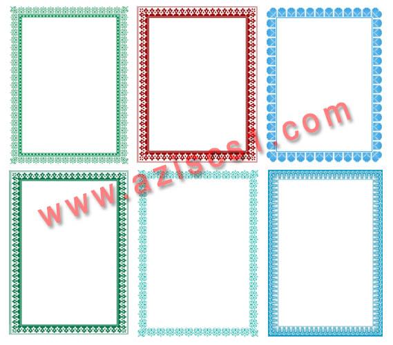 ... bingkai piagam sertifikat dalam format vector coreldraw dengan format