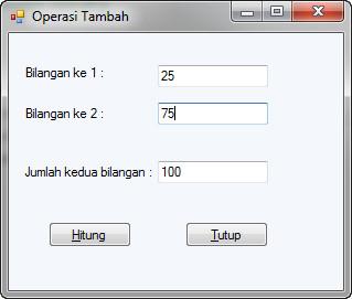 aplikasi pertambahan visual basic 2010