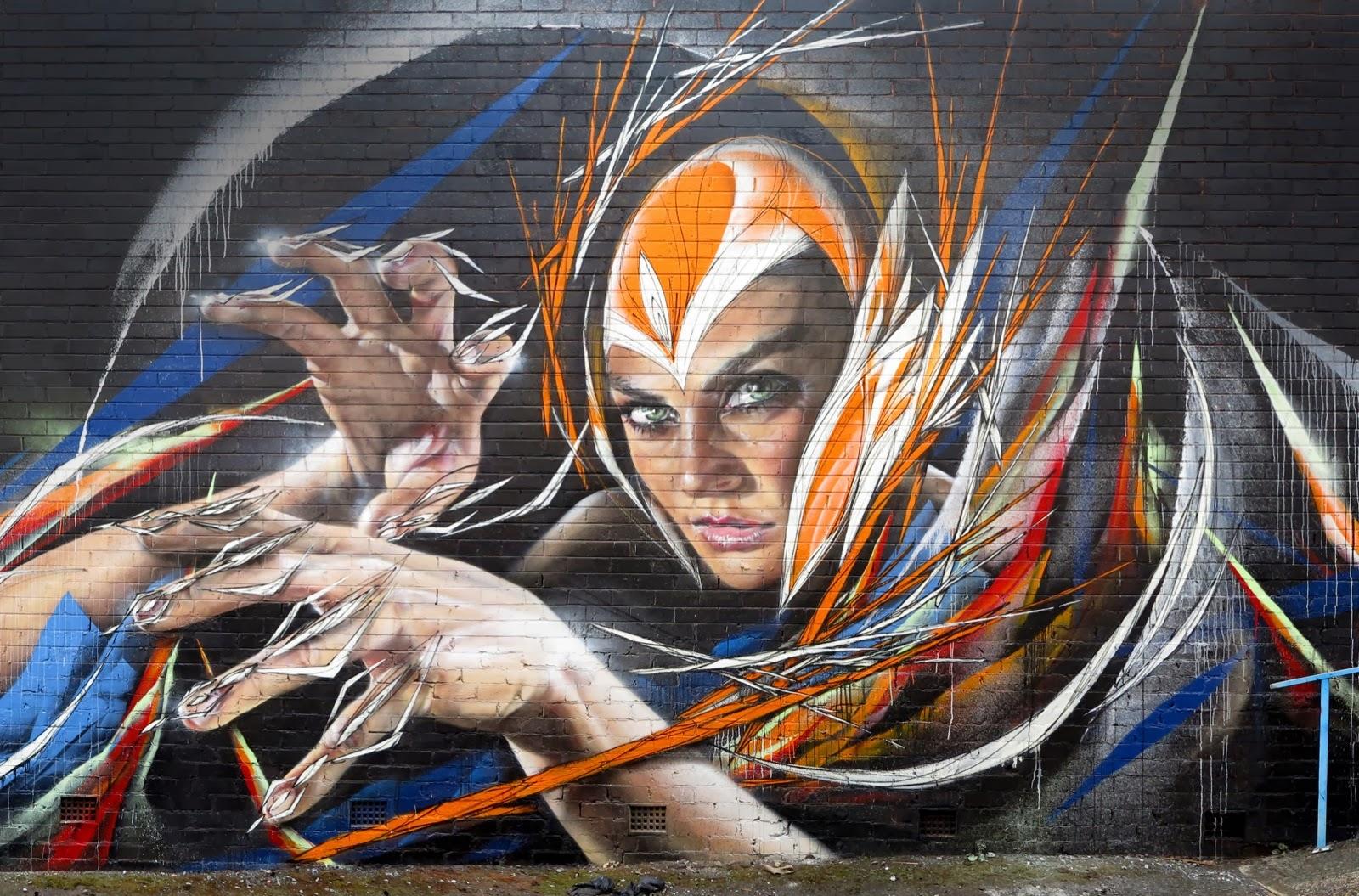 Adnate x shida new mural wollongong australia for Australian mural artists