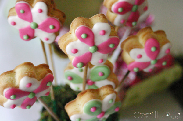 Easter garden party flower decorated cookies