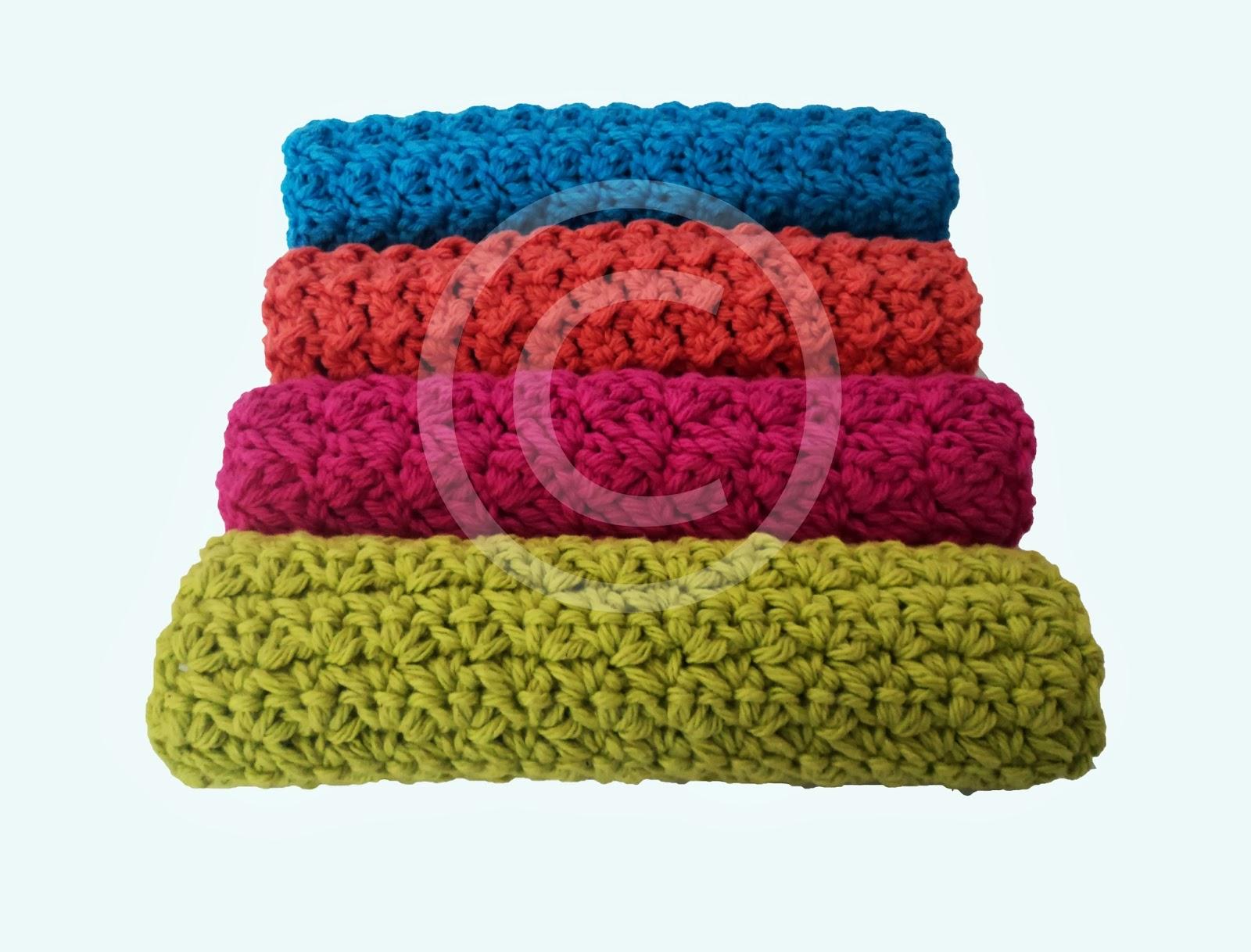 Cute Little Crafts: Crochet Pattern: Textured Washcloths