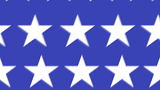animated united states stars set in front of the patriotic blue background of the flag.  Great for use in a 4th of july piece or flag day.