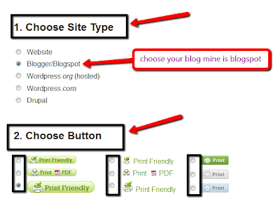 how to add print button to blogger