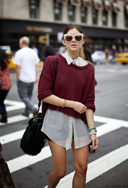 Burgundy Sweater, Street Style, Fashion Trends, Fall Trends 2013