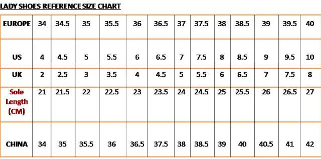 Compare Shoes Sizes Us Europe