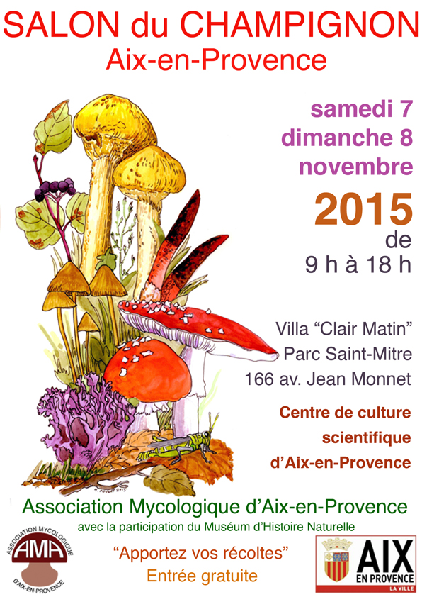 Les c pes salon du champignon aix en provence 2015 for Association l arche salon de provence