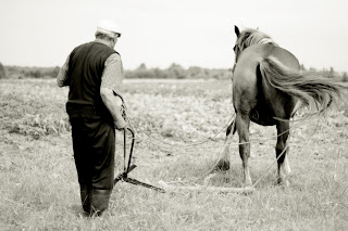 tractor john deere horse drawn plow