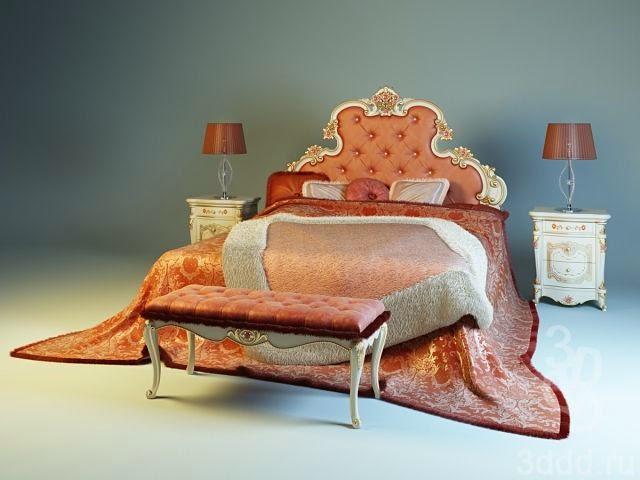 موديلات 3d لسرير النوم وأشكال مختلفة Ghezzani+Versale+_Be