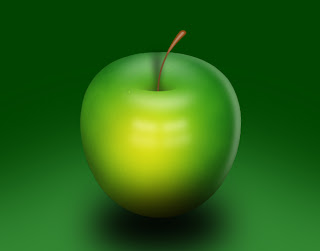 Maçã verde photoshop