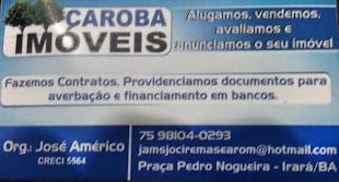 CAROBA IMÓVEIS-PRAÇA PEDRO NOGUEIRA /75-98104-0293