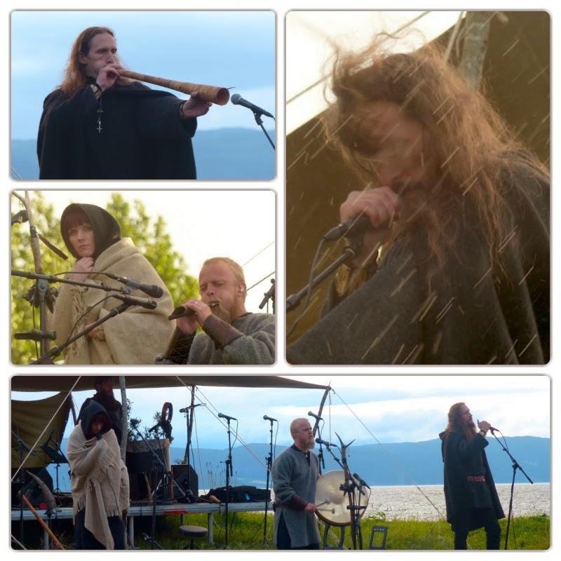 Wardruna live. Einar Kvitrafn Selvik, Gaahl, Linda-Fey Hella
