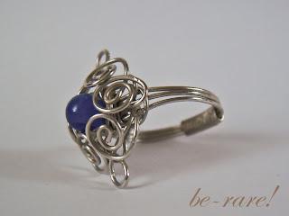pierścionek wire wrapping widok z boku