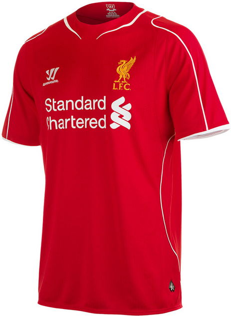 Toko Grosir dan Eceran Jersey Liverpool Home Terbaru 2014-2015