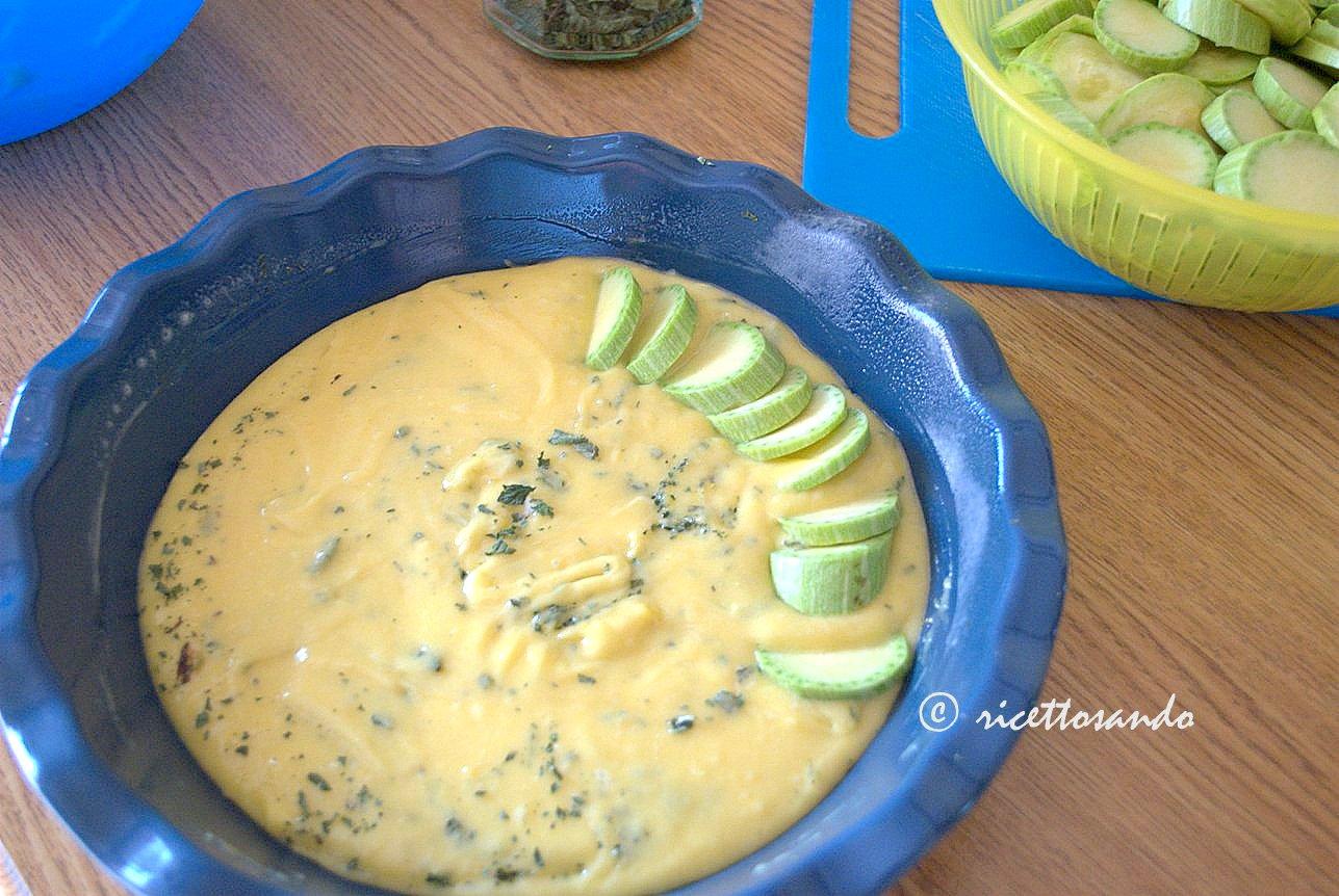 Scarpaccia dolce toscano alle zucchine