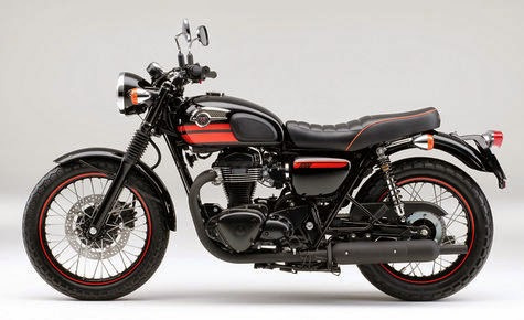 After launching moge classic style Kawasaki Estrella 250, it turns out, Kawasaki also had planned to launch the more classic style motorcycle, Kawasaki W800, a motor that has the look of the Café Racer.