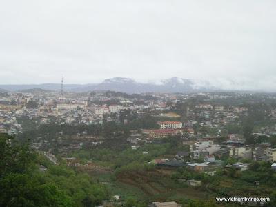 Dalat city from Telepheric