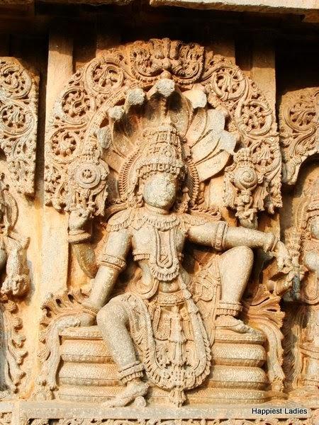 Lord Vishnu at Hoysala Temple Aralaguppe