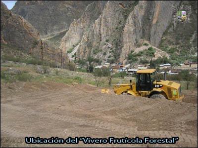 Huari noticias se inicia trabajos de construcci n del for Construccion de viveros forestales