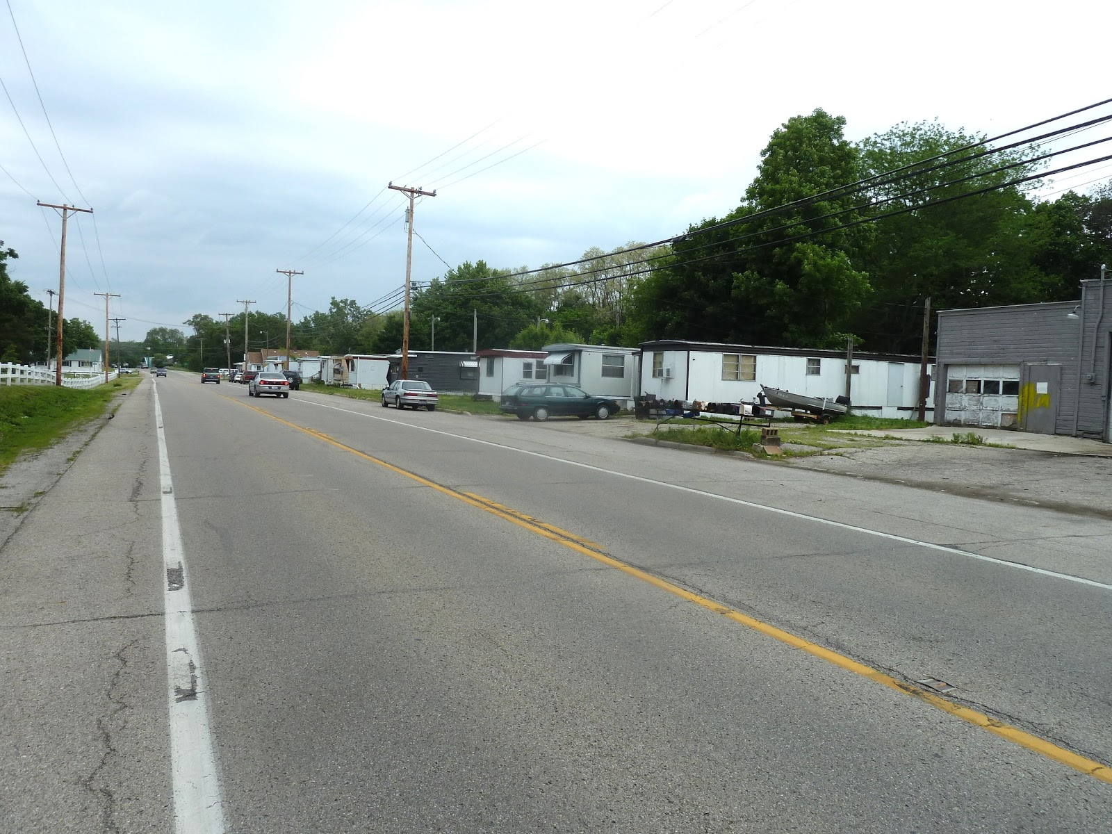 SAM And ME Are About To Enter Into The Open Countrysideevidence By Line Of Quickly Deterioriating Mobile Homes Along Side Route 66
