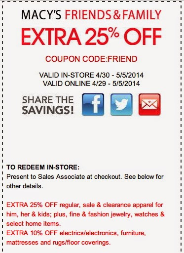 Macy's Printable Coupons