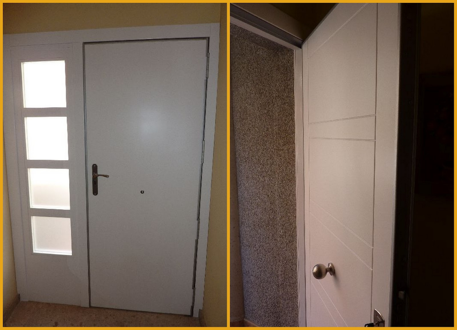 Carpinteria muebles a medida puerta de entrada for Puerta xor 3 entradas